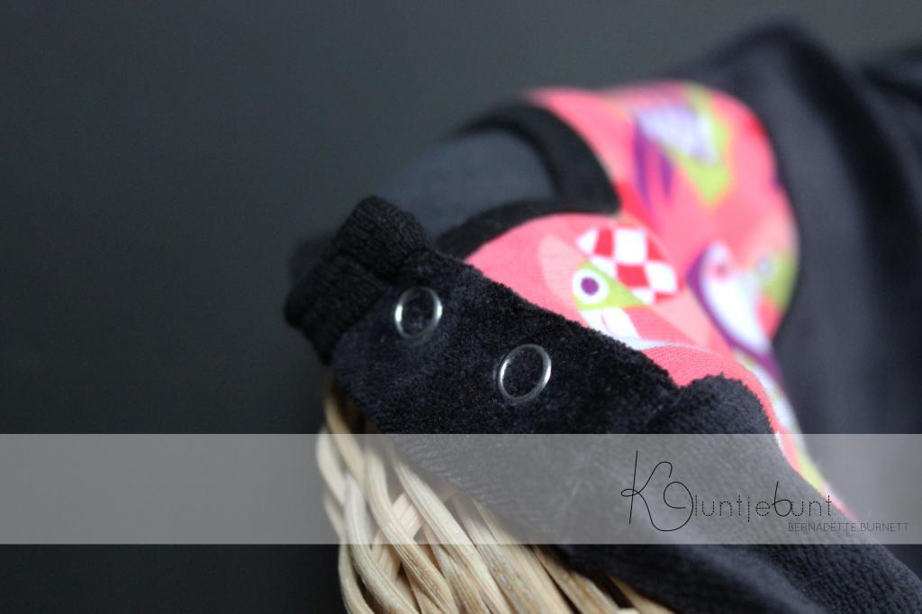 Tukan von Pamela Hiltl Design erschienen bei Lillestoff in GOTS Qualität genäht von Kluntjebunt.
