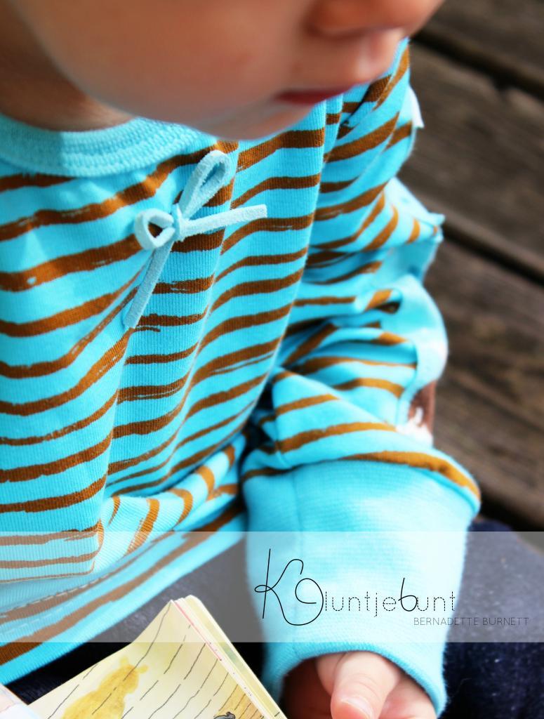 Designbeispiel zu Sketchy Stripes / Pinselstrich von Lillestoff in GOTS Qualität genäht von Kluntjebunt 2014.