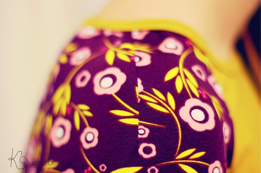 """Raglanshirt für Kinder und Erwachsene aus """"Flowers'n'Dots"""" von Lillestoff genäht von Bernadette Burnett von Kluntjebunt."""