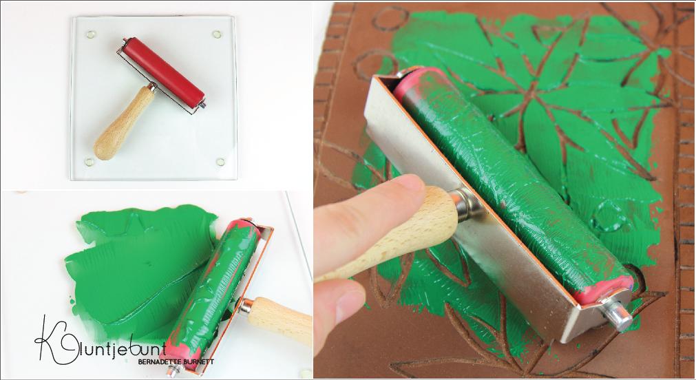 Linolschnitt Tutorial Anleitung als Puzzle DIY von Kluntjebunt Bernadette Burnett.