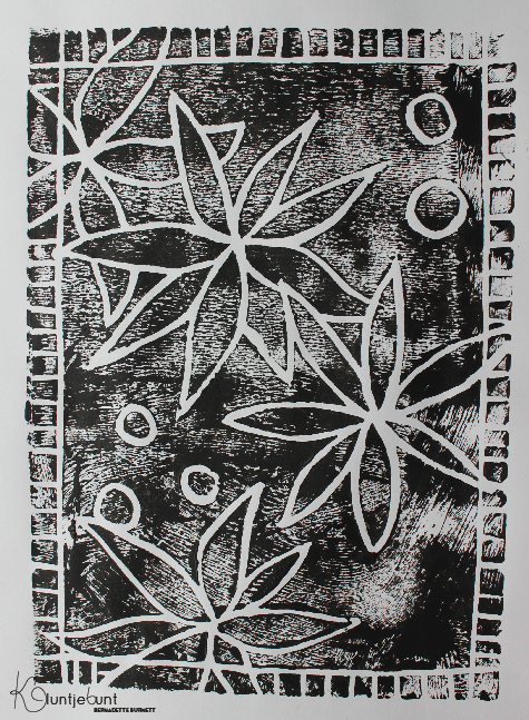Linolschnitt Linoleum Puzzle DIY von Kluntjebunt Bernadette Burnett.