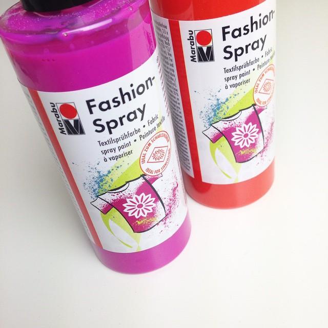 Textil Farbe Fashion Spray von Marabu getestet von Kluntjebunt Bernadette Burnett.