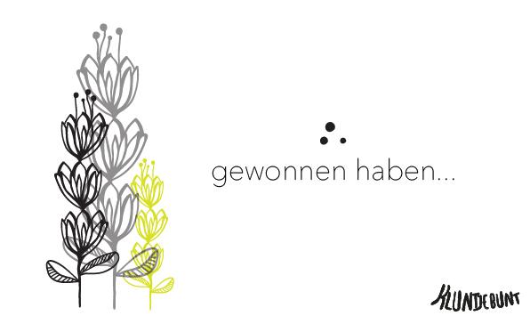 """Gewinnerin des Kluntjebunt Gewinnspiel zu Lillestoff """"Dreamy Plants"""""""